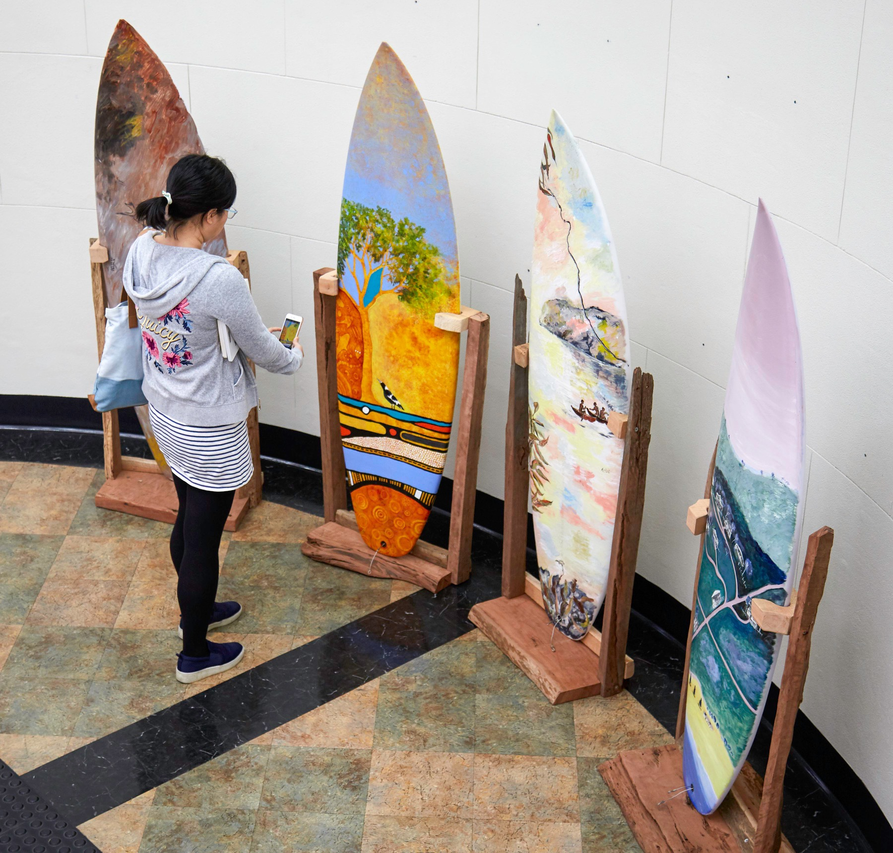 Surfboard Timeline Exhibition